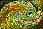 Abstract Art of Beautiful Color Background - Swirl of Rainbow Gold