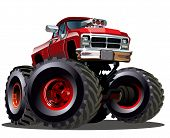 image of bigfoot  - Cartoon Monster Truck - JPG
