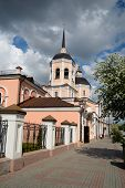 stock photo of epiphany  - Epiphany Cathedral in Tomsk in spring Siberia Russia - JPG