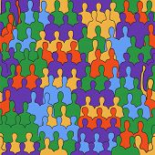 Vector Seamless Pattern: People