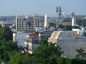 foto of yucatan  - High angle view of Merida in Yucatan Mexico - JPG
