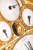 Detail Of Gold And White Historic Clock poster