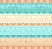 wedding vector set of lacy ribbons