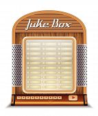 stock photo of jukebox  - Jukebox classic retro music vintage player isolated - JPG