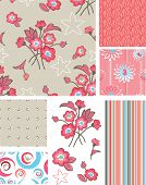 Seamless Floral Rose Patterns and Icons. Use as fills or print off onto fabric to create unique item