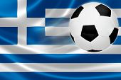 Soccer Ball Leaps Out Of Greece's Flag