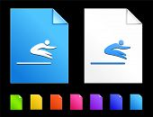Long jump Icons on Colorful Paper Document Collection