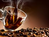 foto of hot coffee  - delicious and hot coffee