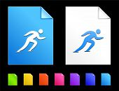 Skating Icons on Colorful Paper Document Collection