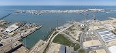 stock photo of shipbuilding  - aerial view of Cadiz and Puerto Real shipbuilding - JPG