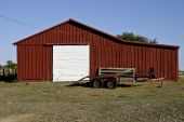 Barn And Trailer
