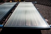 foto of convection  - A rooftop solar hot water heating system - JPG