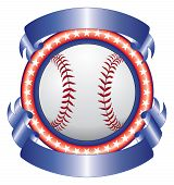 Baseball Design With Ribbons