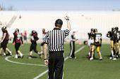 foto of referee  - back of a football referee - JPG