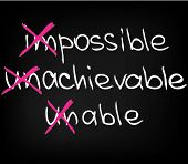 picture of impossible  - Business quotes and words for motivation and success - JPG