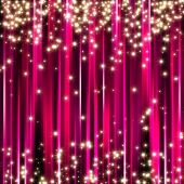 picture of christmas party  - Sparkle glitter stars on pink stripe background - JPG