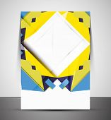 Multipurpose CMYK geometric print template without any sample text