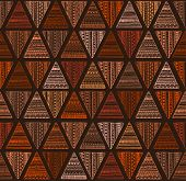 picture of african mask  - Seamless triangle pattern - JPG