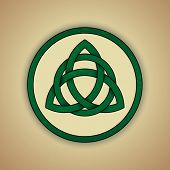 foto of celtic  - Celtic Knot Symbol of Trinity - JPG