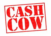 image of cash cow  - CASH COW red Rubber Stamp over a white background - JPG
