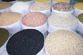 Pulses For Sale On Cholon Market, Ho Chi Minh City, Vietnam