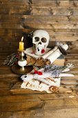 stock photo of voodoo  - Conceptual photo of love magic - JPG