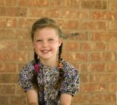 Little Girl in Pigtails