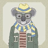 Fashion Illustration Of Koala