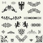 Vector Set Of Decorative Floral Elements!!