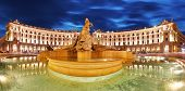 picture of piazza  - Piazza Repubblica Rome at night panoramic view - JPG