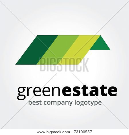 Abstract vector house logotype concept isolated on white background
