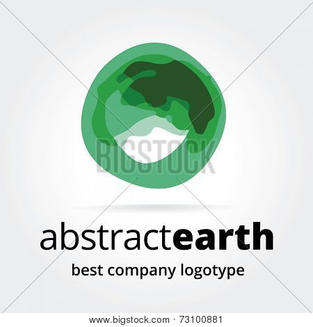 Abstract vector earth logotype concept isolated on white background