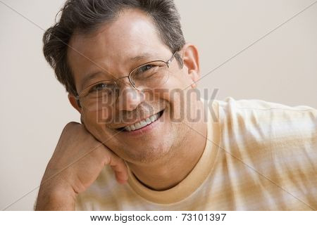 Middle aged man smiling for the camera