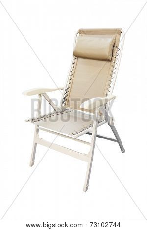 folding chair isolated under the white background