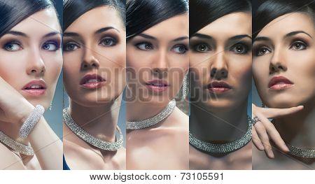 portrait of beautiful women with jewelry