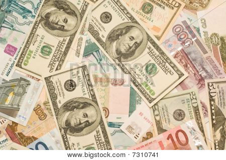 Dollars, Euros, Russian Roubles