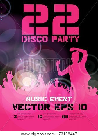 Poster of dancing event, vector