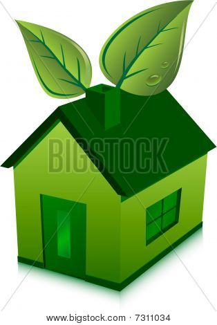 green house and leaves