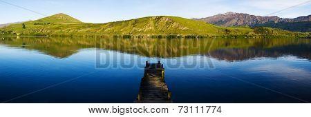 Old boat jetty,Lake Hayes, New Zealand.