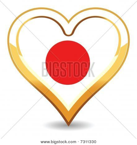 Herzen Japan flag