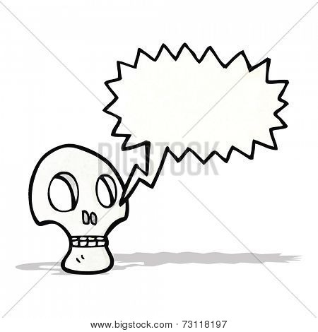 shrieking skull cartoon