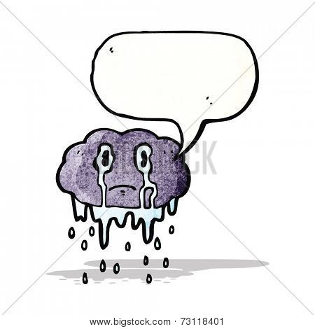 crying raincloud cartoon