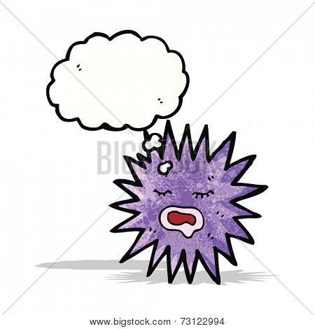 sea urchin cartoon