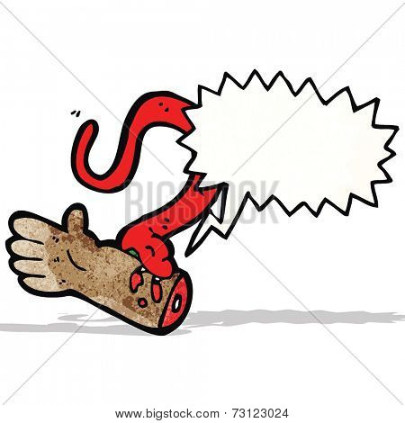 cartoon snake bite