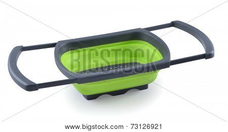empty plastic storage container isolated on white