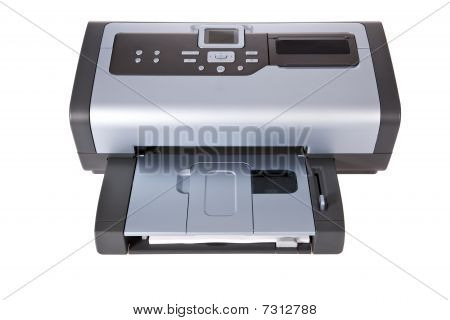 Inkjet printer isolated on a white background