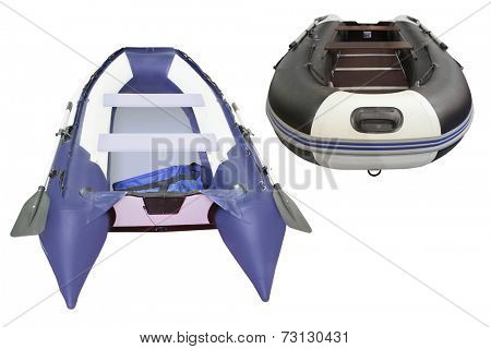 The image of oar boats