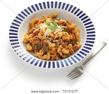 american chop suey, american goulash, american pasta dish