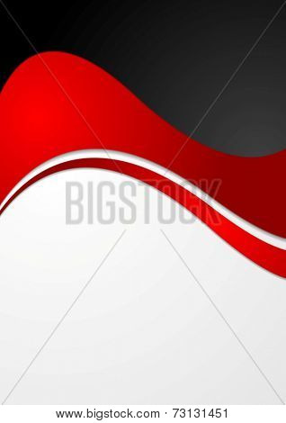 Abstract contrast wavy modern background. Vector design