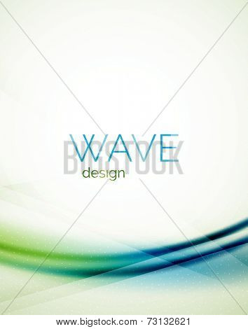 Flowing wave of blending colors, unusual blur abstract background